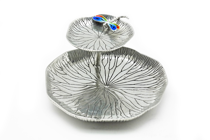 JEWELLERY TRAY LOTUS LEAF WITH DRAGONFLY