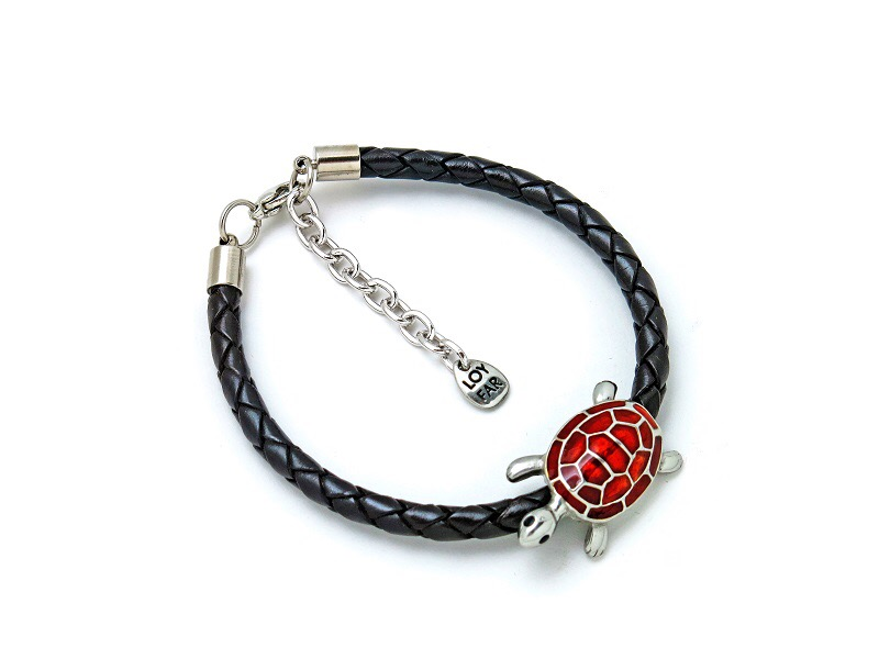 LEATHER BRACELET SEA TURTLE