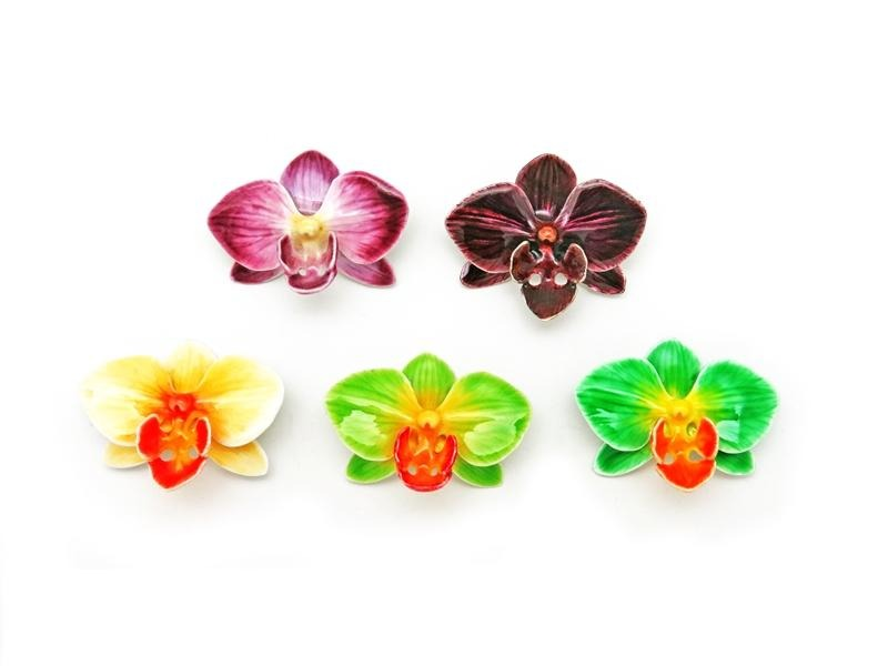 BROOCH DENDROBIUM ORCHID (MIX COLOUR)