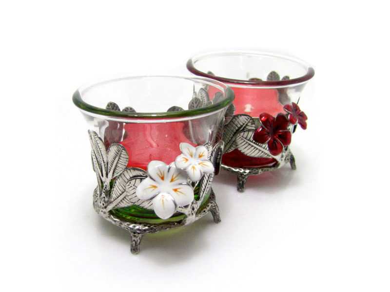 CANDLE HOLDER PLUMERIA (TEALIGHT)