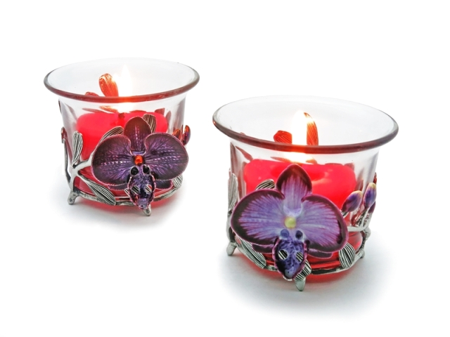 CANDLE HOLDER ORCHID (TEALIGHT)
