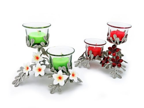 CANDLE HOLDER PLUMERIA 2 SPOT