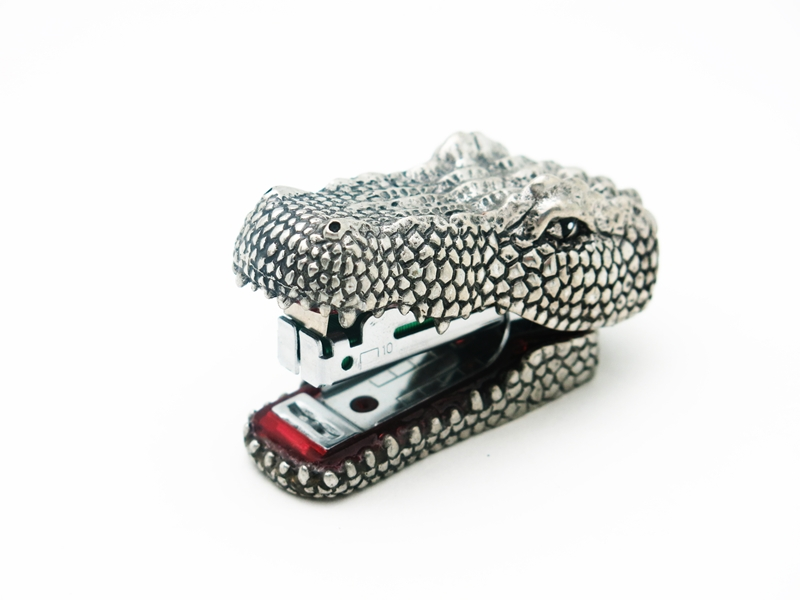 STAPLER CROCODILE PLAIN