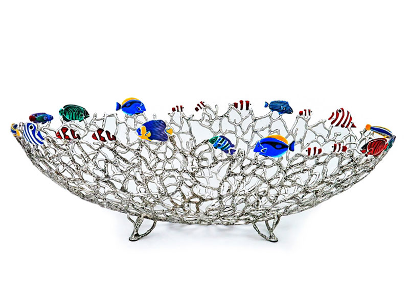 OBJECT BOAT CORAL W/FISH (SIZE C)