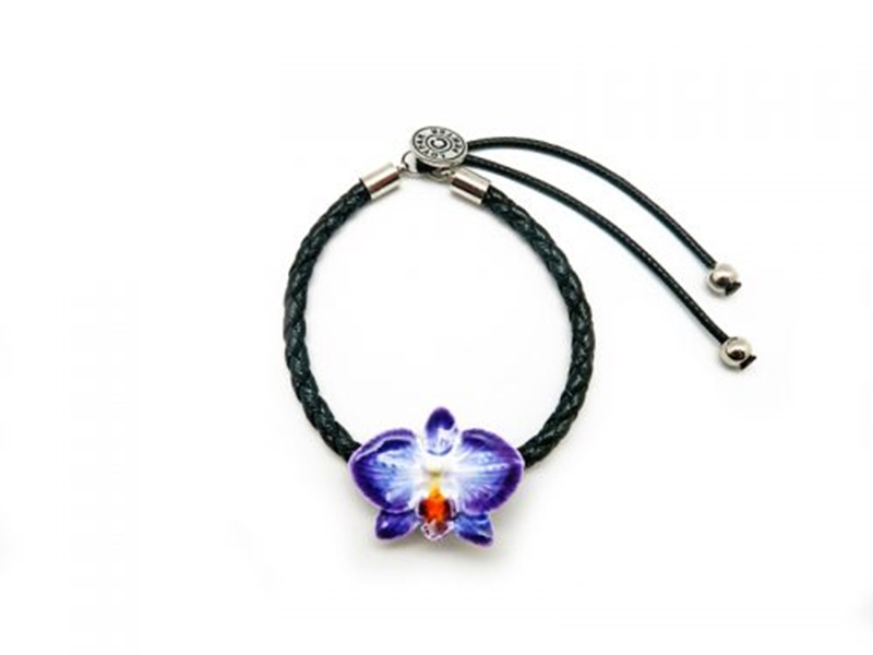BRACELET ORCHID LEATHER